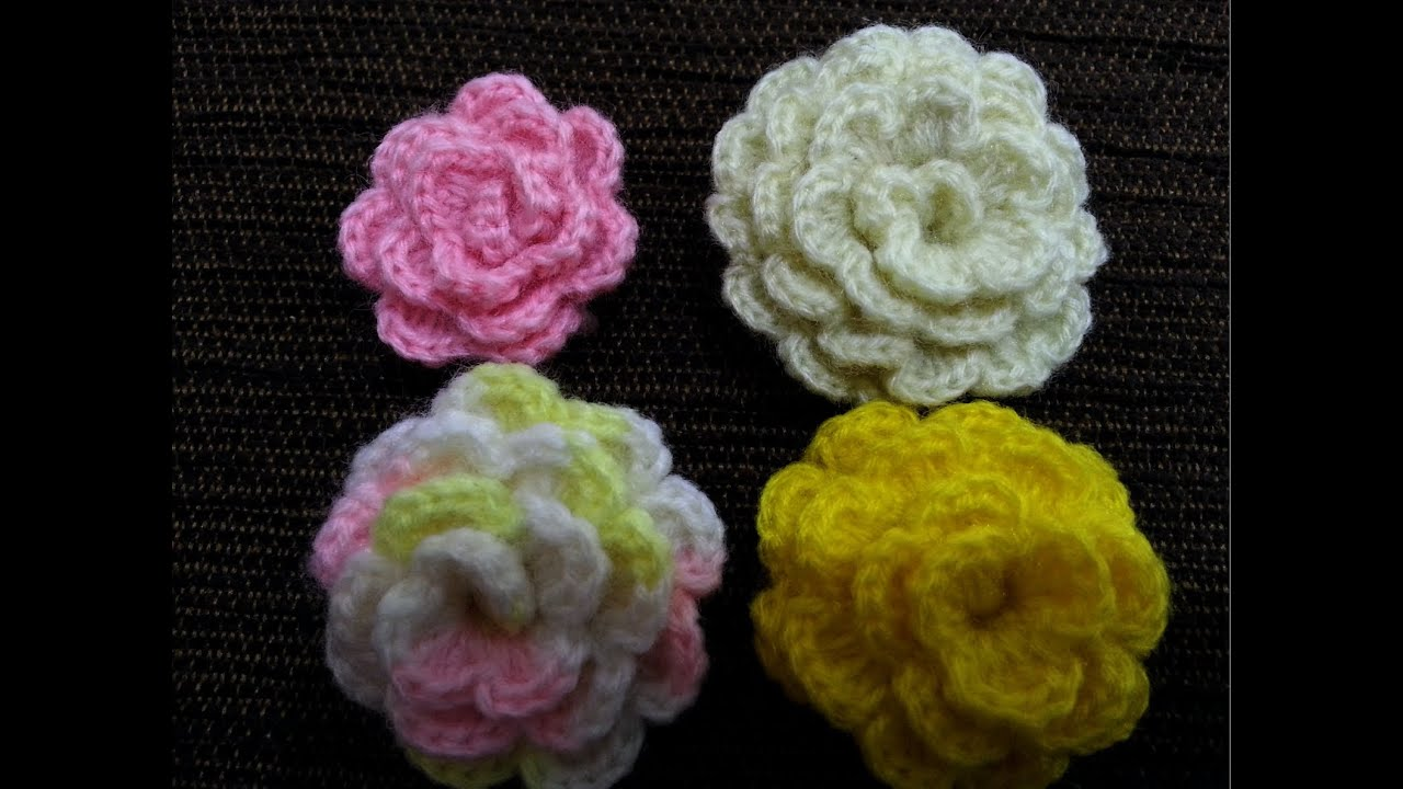 Crochet Flower Tutorial #1 - YouTube