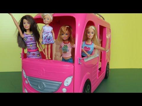 Camper Built In Pool Play Picnic Hammock Barbie