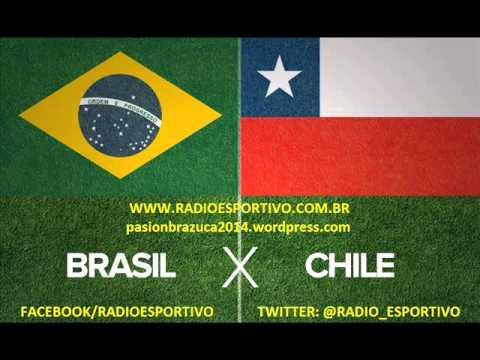 Brasil 1 x 1 Chile (Pênaltis: 3x2) Narração: Oscar Ulisses (Rádio Globo) Copa do Mundo - 28/06/2014