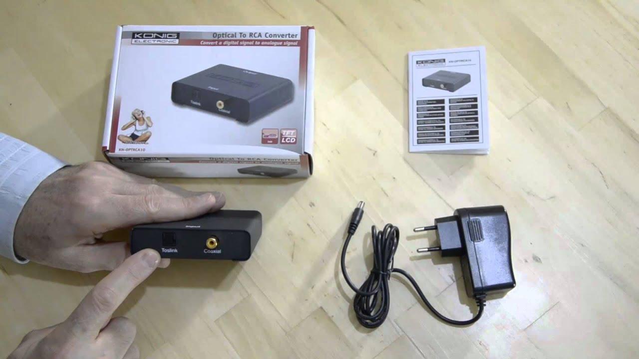Convertir Un Signal Audio Num 233 Rique Spdif Optique Ou