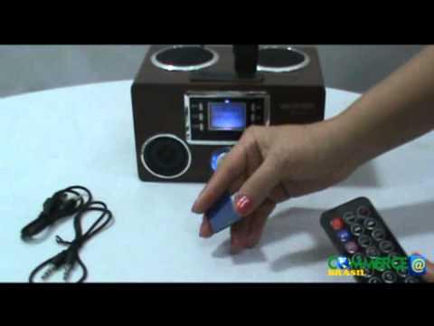Mini Caixa Som Recarregável Rádio Fm Pendrive SD/MMC MD-V10