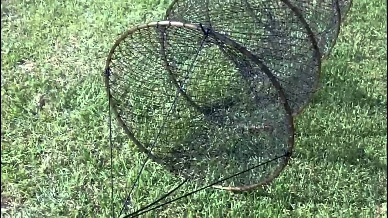 How to set up a hoop net youtube for Hoop net fishing