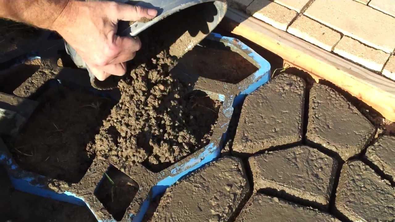 How To Make Concrete Paving Stones Youtube