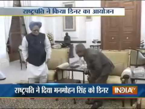 President organises dinner for Manmohan Singh, Sushma Swaraj also joined