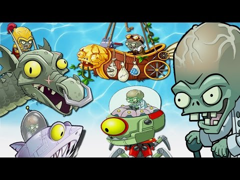 Plants Vs Zombies 2 - All Worlds Dr. Zomboss Fight!