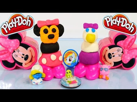 Disney Junior Minnie Mouse and Daisy Duck PLAY-DOH Makeables Toys Review Playdoh Episodes