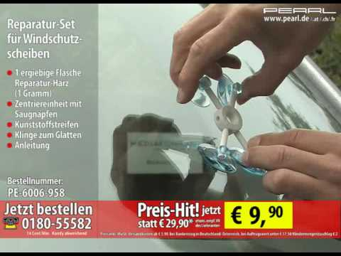 reparatur set f r windschutzscheiben youtube. Black Bedroom Furniture Sets. Home Design Ideas