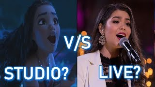 Disney Princesses - STUDIO vs LIVE performances