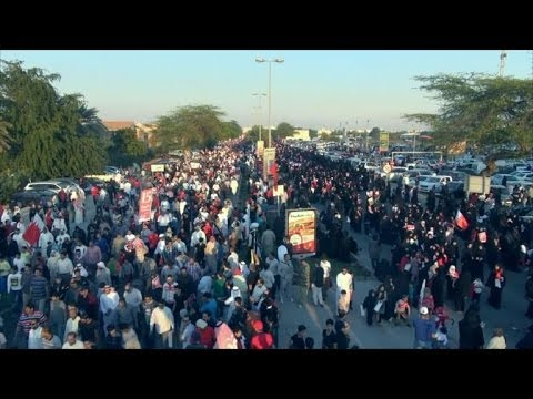 Bahrain protesters mark uprising anniversary