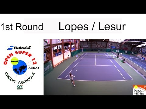 Lopes (POR) - Lesur (FRA)- Open Super 12 Auray - Boys Single Main Draw (Court 3)