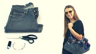 Hacer un bolso con un jean