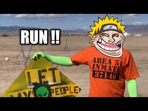 Naruto Running in Area 51 Meme