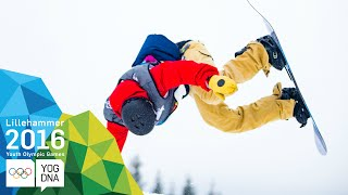 Snowboard Slopestyle - Jake Pates (USA) wins Men's gold | Lillehammer 2016 Youth Olympic Games
