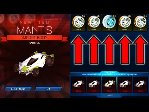 100 NITRO CRATE TRADE UP ( Painted MANTIS IN ROCKET LEAGUE!! )