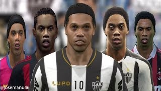 RONALDINHO From PES 3 To PES 2014 Face Evolution