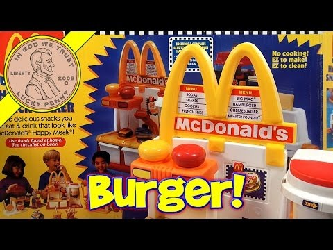 McDonald's Happy Meal Magic Hamburger Snack Maker Set, 1993 Mattel Toys (Fun Recipes)