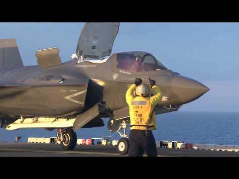 kiểm tra F35 trên tàu đổ bộ Ong bắp cày USS Wasp (LHD-1)