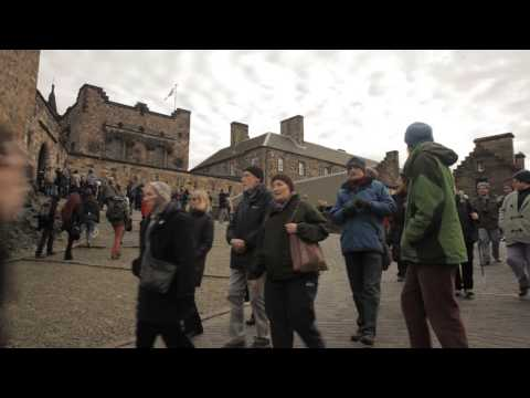 Trident NO Scotland YES St Andrews Day Demo at Edinburgh Castle