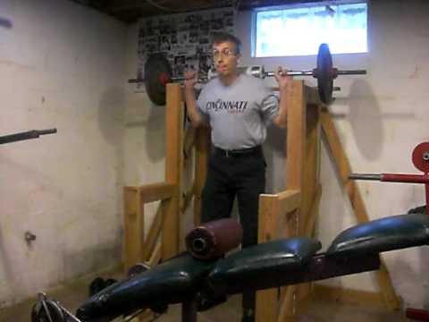 Squat rack youtube for Homemade safety squat bar