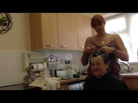 Rebecca [Home Hairdresser] visits Mrs Smith