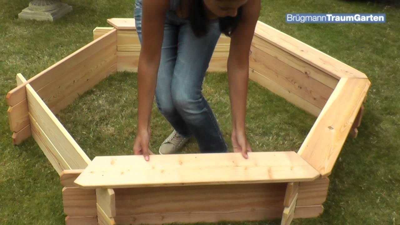 sandkasten beo von traumgarten einfach und schnell aufbauen anleitung youtube. Black Bedroom Furniture Sets. Home Design Ideas
