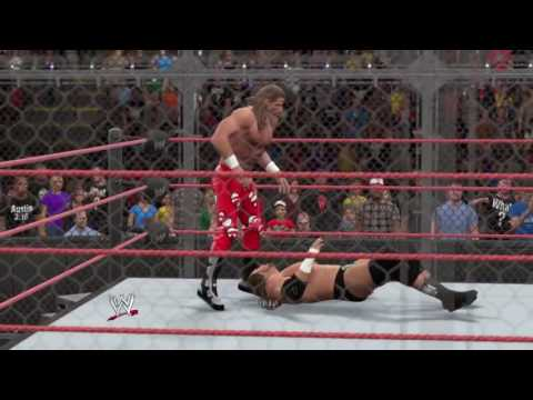 WWE 2K15 Shawn michaels vs Triple H Hell in the cell Match 2015 (PS4) gameplay