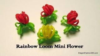 Rainbow Loom Mini Flowers How To
