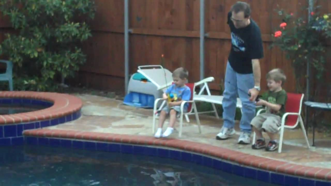 Fishing in the pool youtube for Raising fish in a swimming pool
