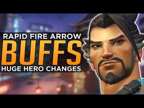 Overwatch: NEW Hanzo Abilities! - Mei Sombra & Doomfist BUFFS!