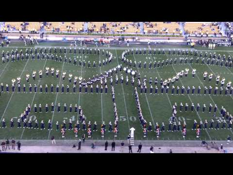 Lady Gaga LMFAO and Hot Chelle Rae Notre Dame Band Halftime show 9-17-11