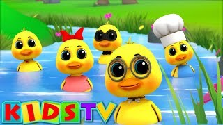 Five Little Ducks | Kindergarten Nursery Rhymes For Children By Kids Tv