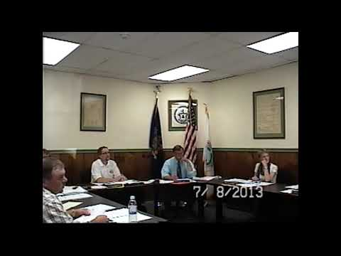 Champlain Village Board Meeting 7-8-13