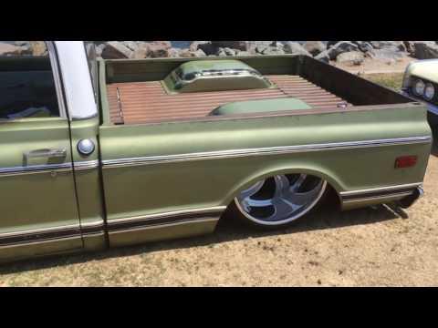 Old Olive 1970 Chevy c10 LS Swap idling walk around