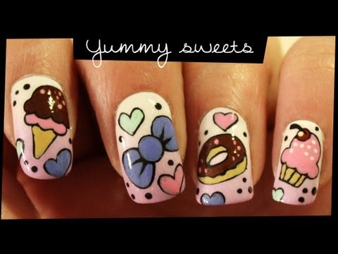 Yummy Sweets nail art