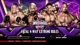 WWE 2K14 Ryback Vs Batista Vs Brock Lesnar Vs Goldberg