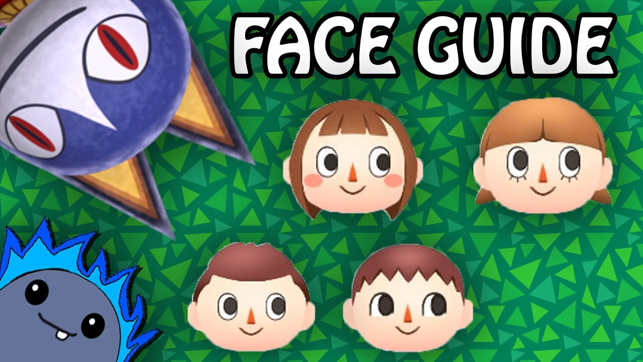 Animal Crossing: New Leaf Character Face Guide | My ...