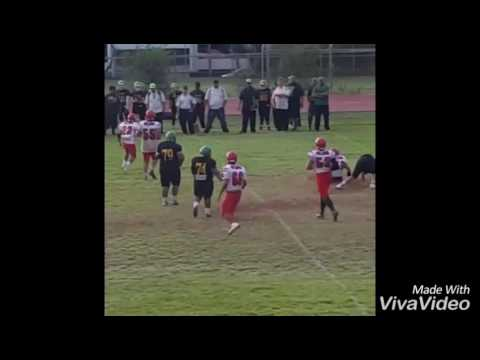 Emilio 'I Boy' Lorenzo Jr #58  - Waialua vs Kaimuki 08/13/16