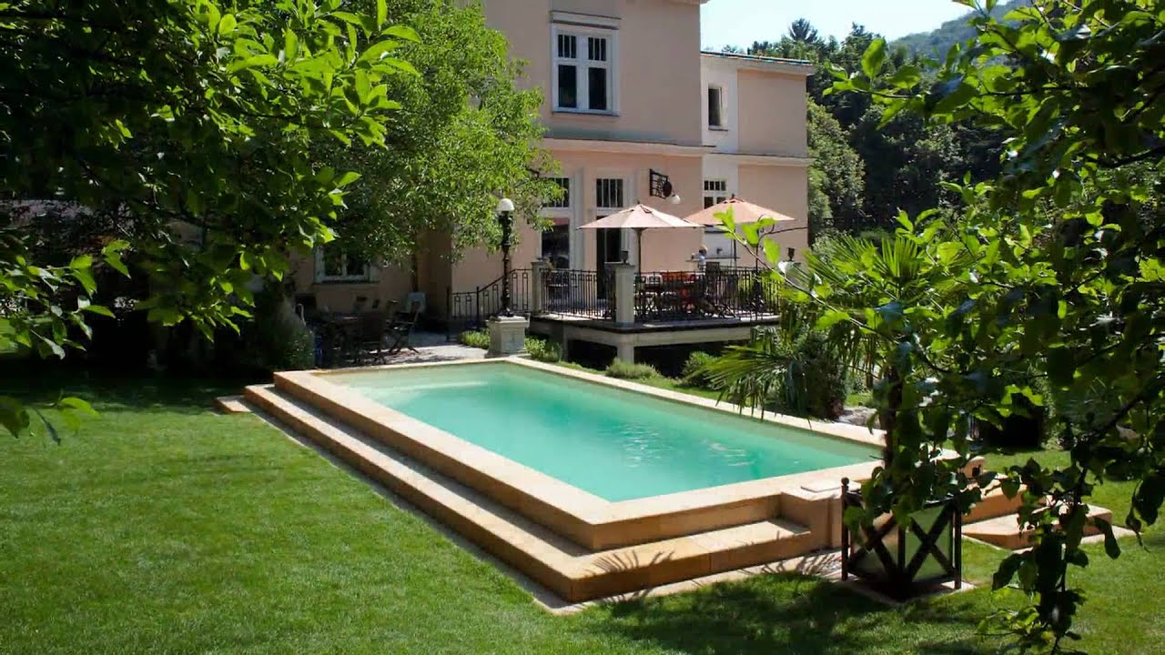 mediterraner garten mit swimmingpool youtube
