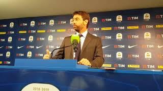 Agnelli: 'Grazie a Marotta, ora spazio a dirigenti giovani. Paratici e gli obiettivi della Juve...'