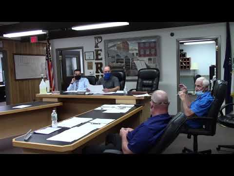 Peru Town Board Meeting  9-28-20