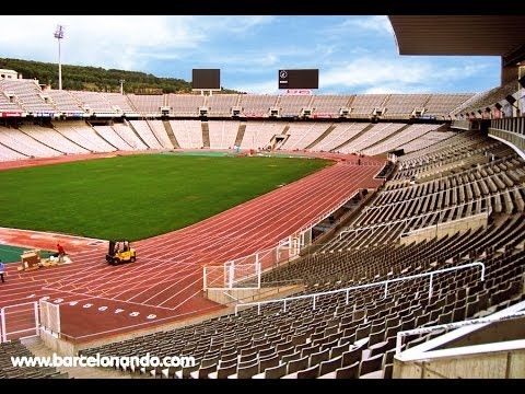 VLOG OLYMPIC Stadium in BARCELONA June 2014