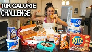 10K Calorie Challenge | Girl VS food | Epic Cheat Day | Ashley Nocera