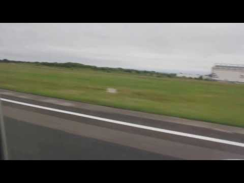 United Flight take-off out of Shannon Airport en route to Chicago