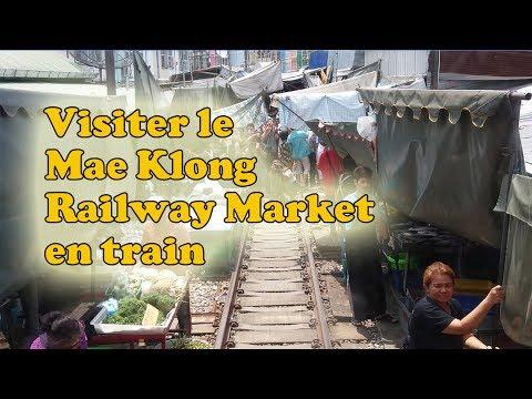 le marché sur la voie ferrée de mae klong