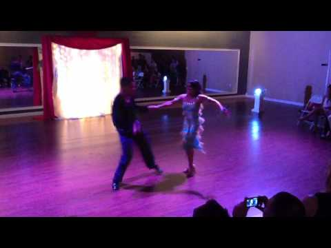 Giovanna and Marco performing Cha Cha at DF Studio Summer Showcase