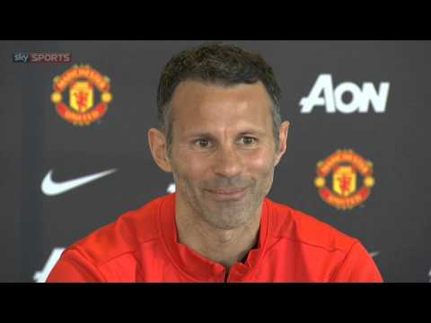 Ryan Giggs's first press conference as Manchester United manager