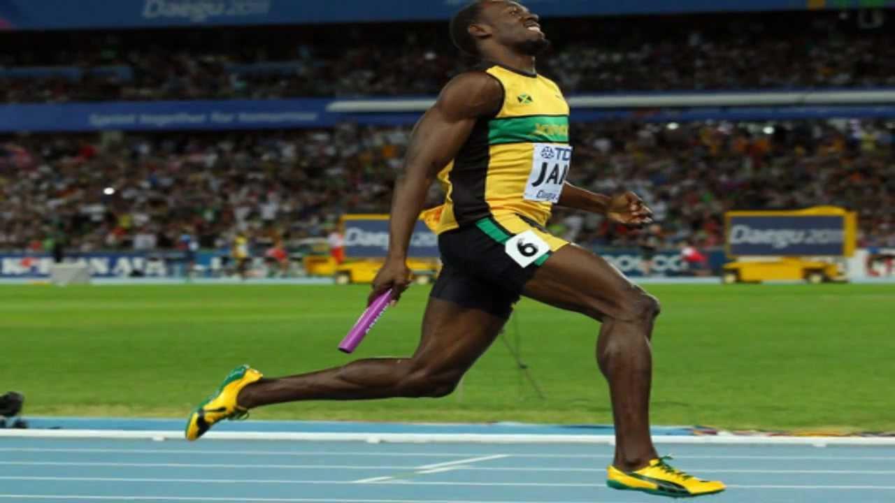4x100m team jamaica amp usain bolt daegu september 4 2011 youtube