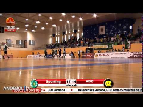 Andebol :: 8J Fase Final :: Sporting - 35 x ABC - 30 de 2013/2014