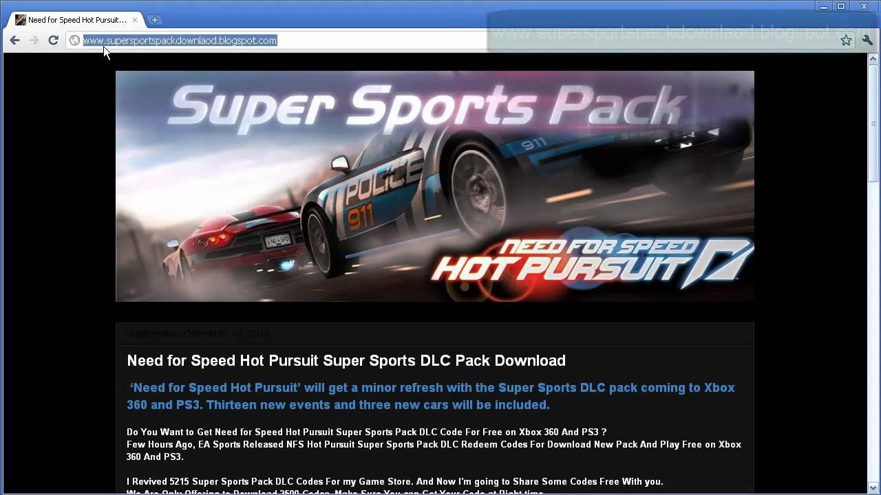 need for speed hot pursuit super sports dlc pack free. Black Bedroom Furniture Sets. Home Design Ideas