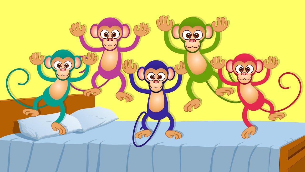 Five Little Monkeys | kids songs and nursery rhymes for children ...